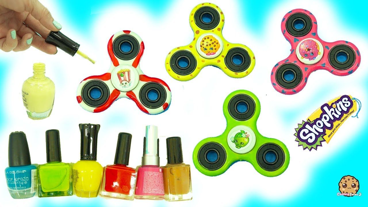 DIY Nail Polish Painted Shopkins Inspired Fidget Spinners - Do It ...