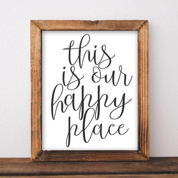 Our Happy Place - Printable images