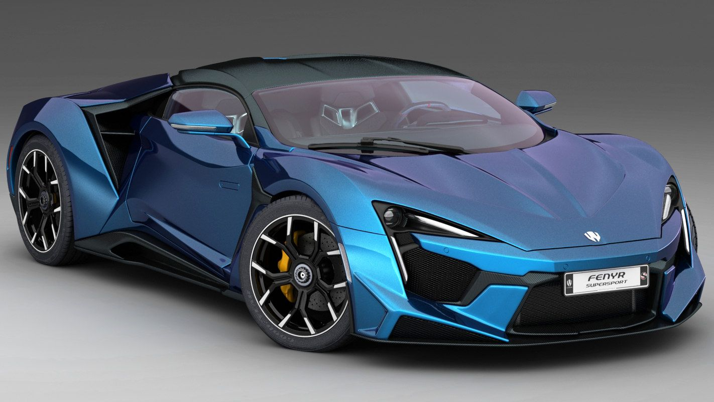 W Motors Fenyr Supersport 3d Model Super Cars Lykan Hypersport Supersport