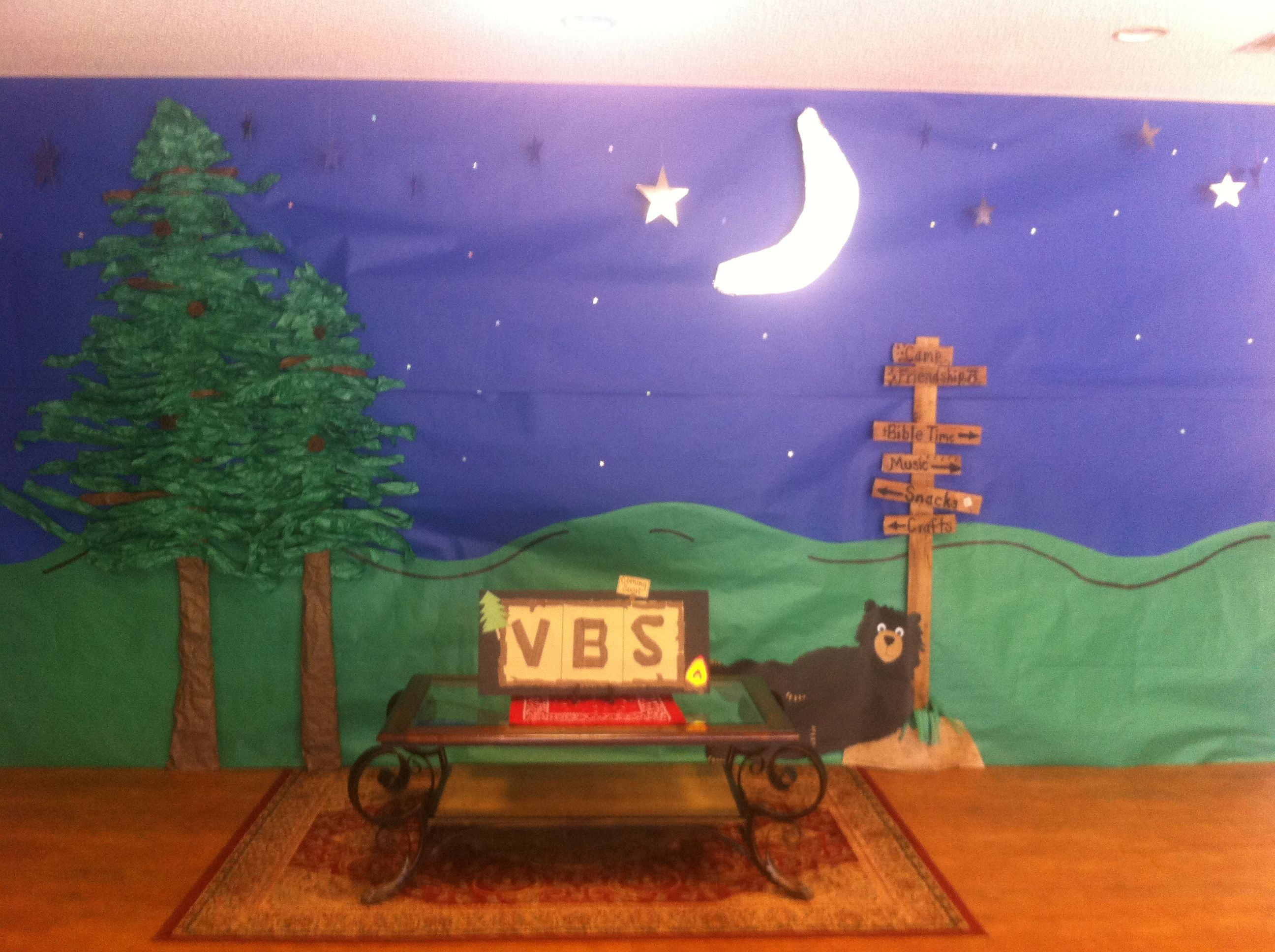 vbs camping theme decorating ideas