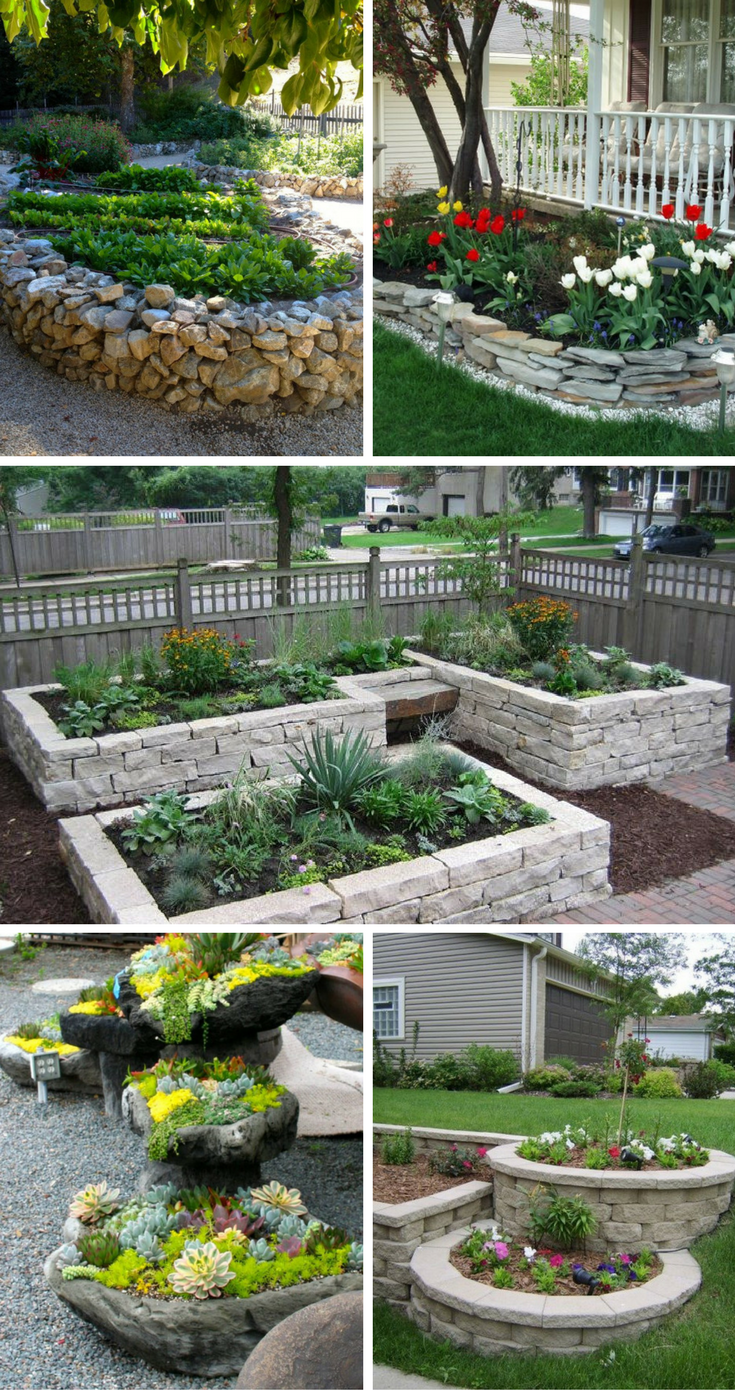 Stunning Stone Flower Beds You Can Easily Make | ✻ DIY Gardening ...
