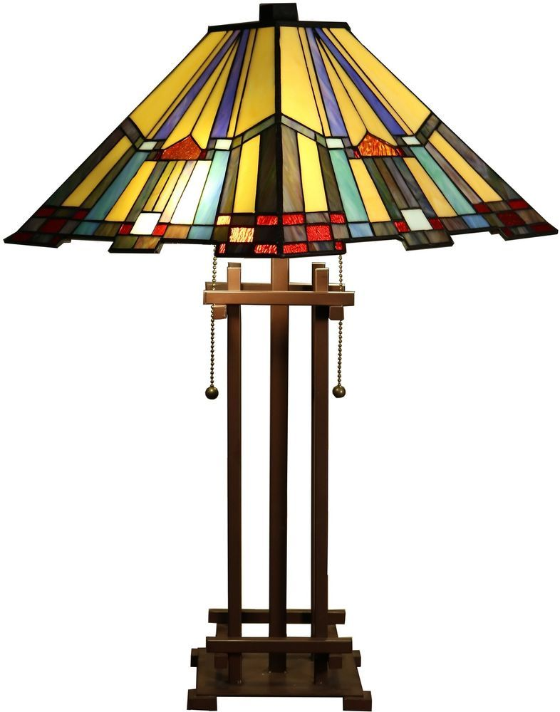 Tiffany style stained glass table lamp desk art deco mission tiffany style stained glass table lamp desk art deco mission craftsman victorian home garden lamps lighting ceiling fans lamps ebay aloadofball Gallery