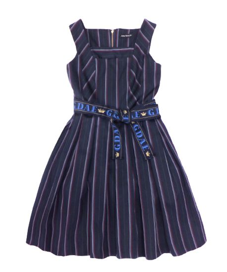 レジメンタルストライプのドレス - Jane Marple Online Shop Jane Marple goes Ravenclaw
