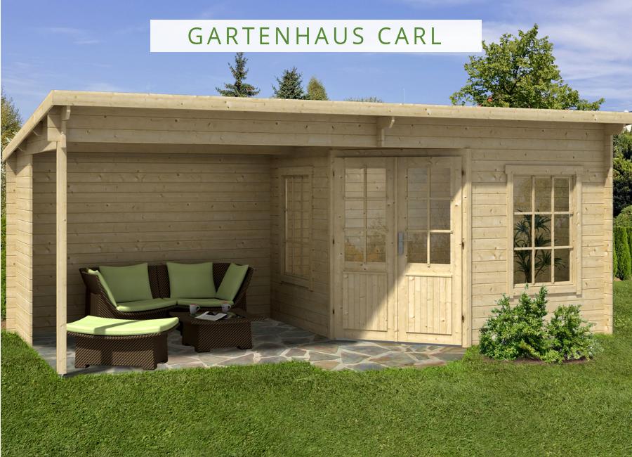 Gartenhaus Modell Carl28 Gartenhaus pultdach