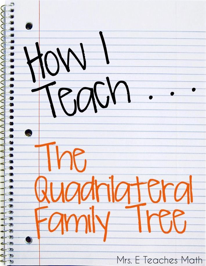 How I Teach the Quadrilateral Family Tree - a cute story for ...