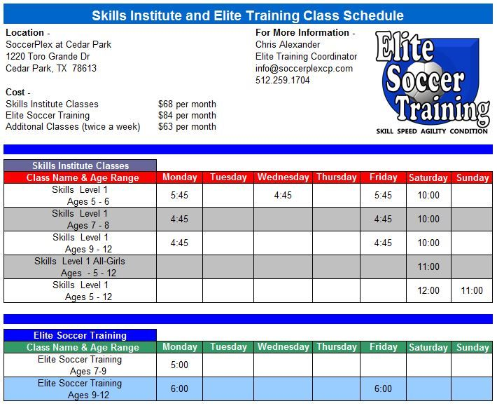 Training Schedule Of Soccer Players  HttpBallerssportsCom