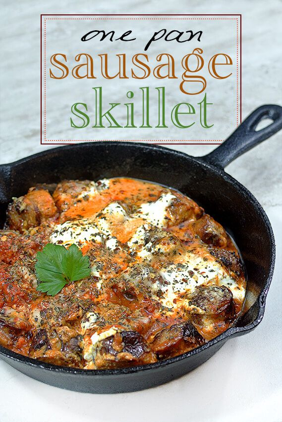 Keto One Pan Italian Sausage Dinner Skillet - A Low Carb Dinner Recipe