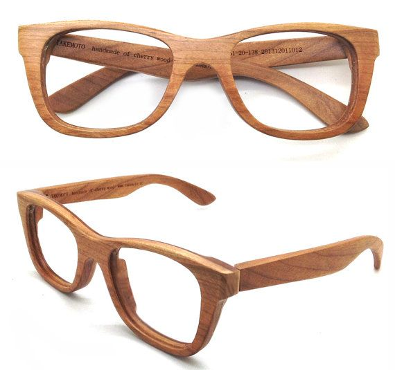 138f41348f American Cherry Wood Handmade Wooden Takemoto Brown glasses frames ...