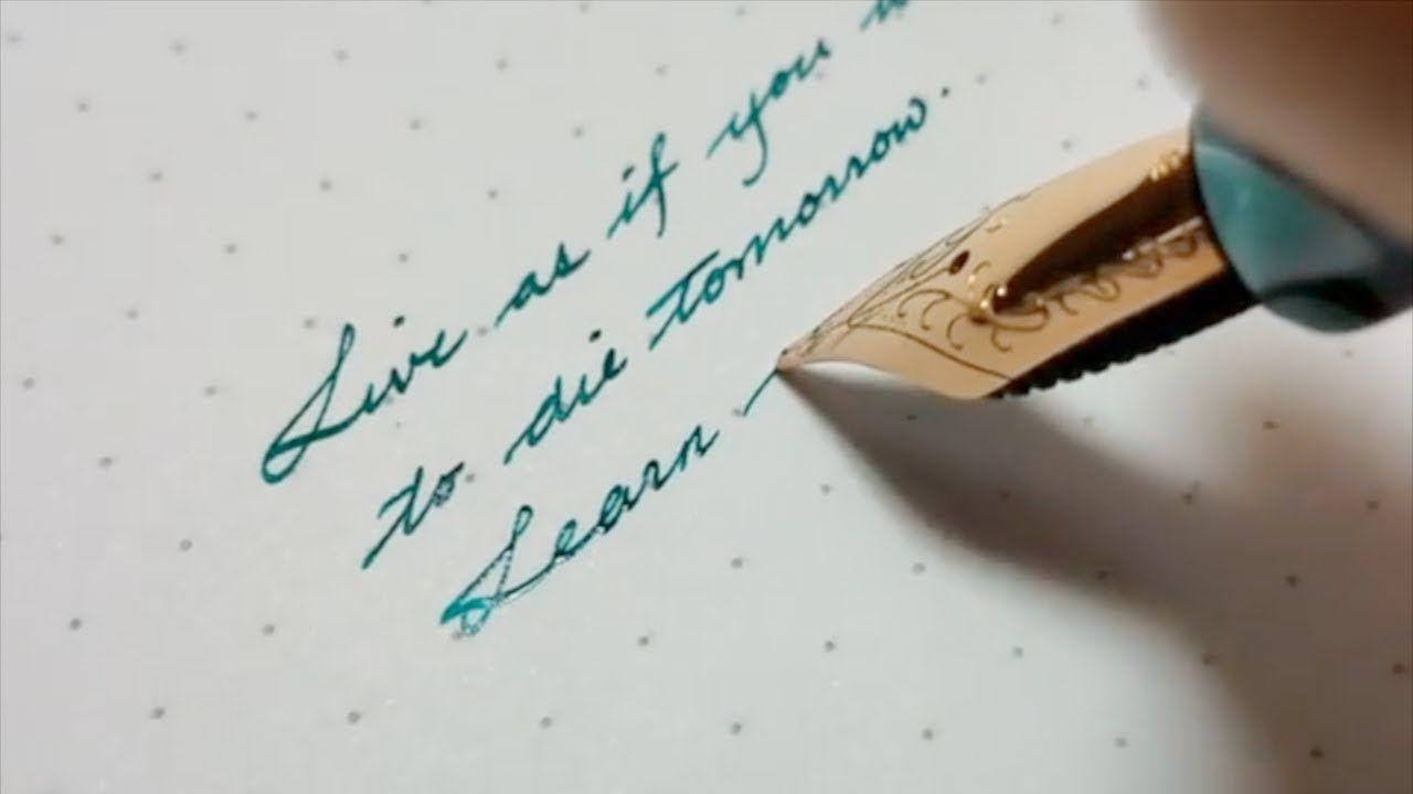 Beautiful handwriting with fountain pen fountain pen