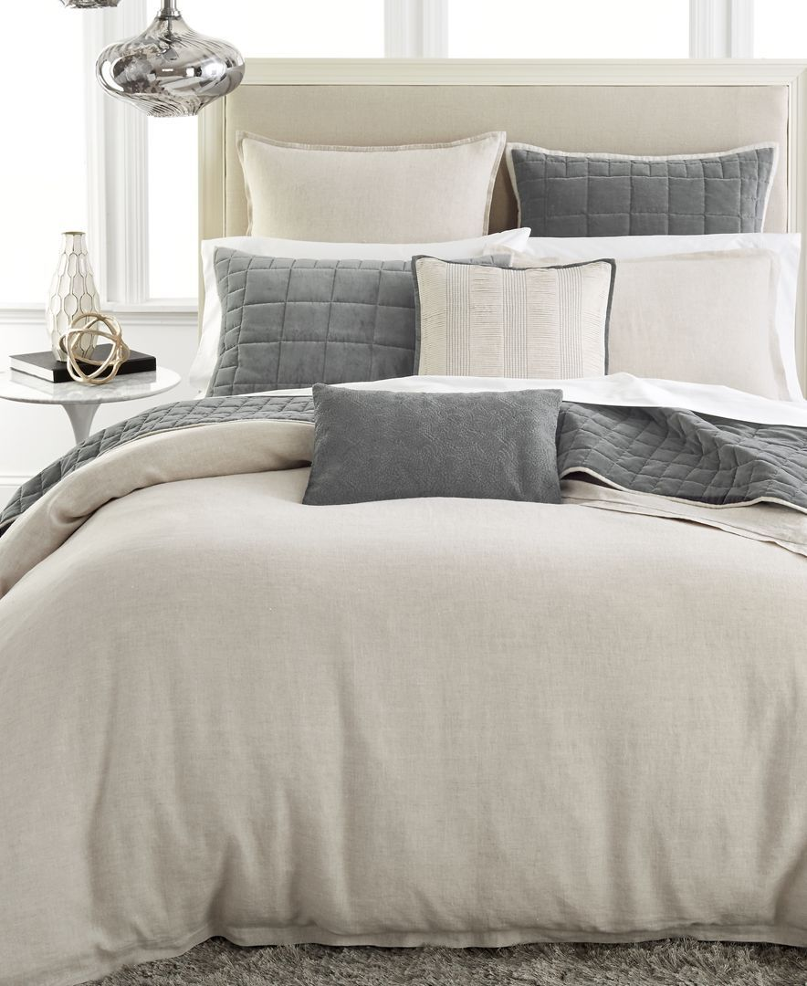Hotel Collection Linen Natural Queen Duvet Cover Bedding
