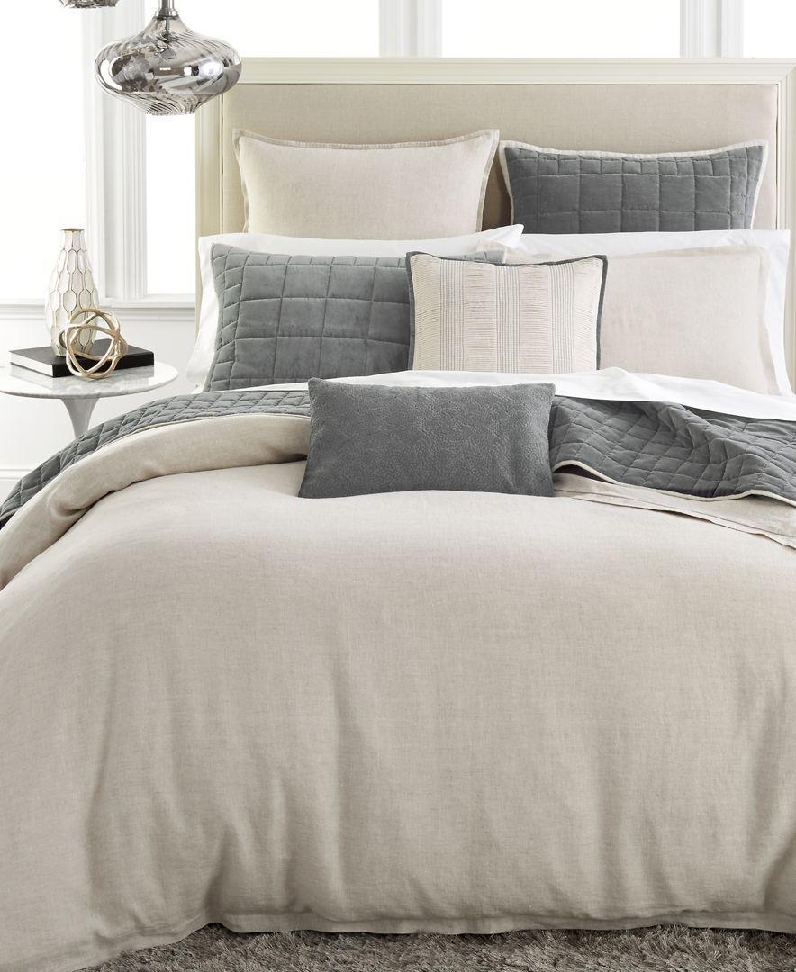 Hotel Collection Linen Natural Queen Duvet Cover Bedding