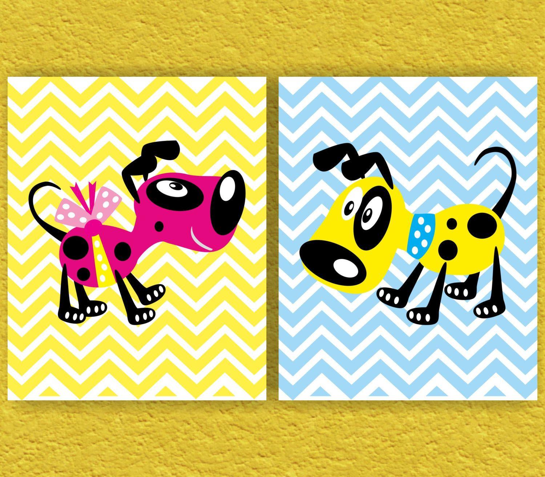 Dogs Nursery Art Print Kids Art Print Kids Wall Decor by ANYPRINT ...