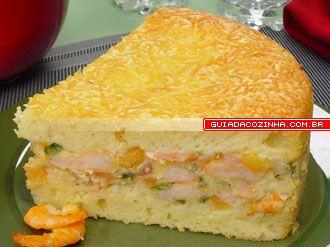 Receita de Torta de creme de camarão