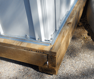 The Easiest Floor To Make For Your Metal Shed Or Plastic Shed Is A Wood Floor The Simplest Foundation Is Pressure Plastic Sheds Metal Shed Metal Storage Sheds