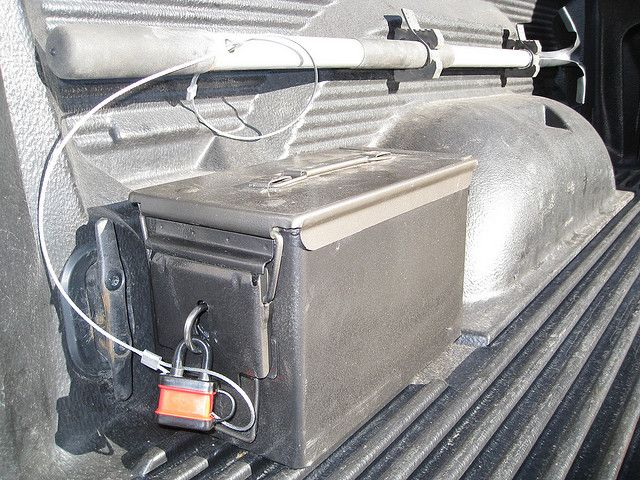 Ammo Can Truck Bed Storage With Lock Truck Bed Storage Truck Bed Ammo Cans