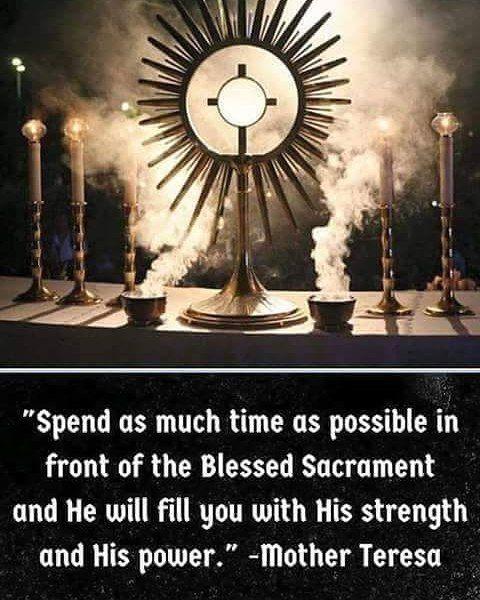 #BlessedMotherTeresa #Catholic #BlessedSacrament #Adoration by catholicsoul_2014