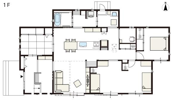 白にこだわった平屋の家 バリアフリー設計で車椅子でも快適 実例