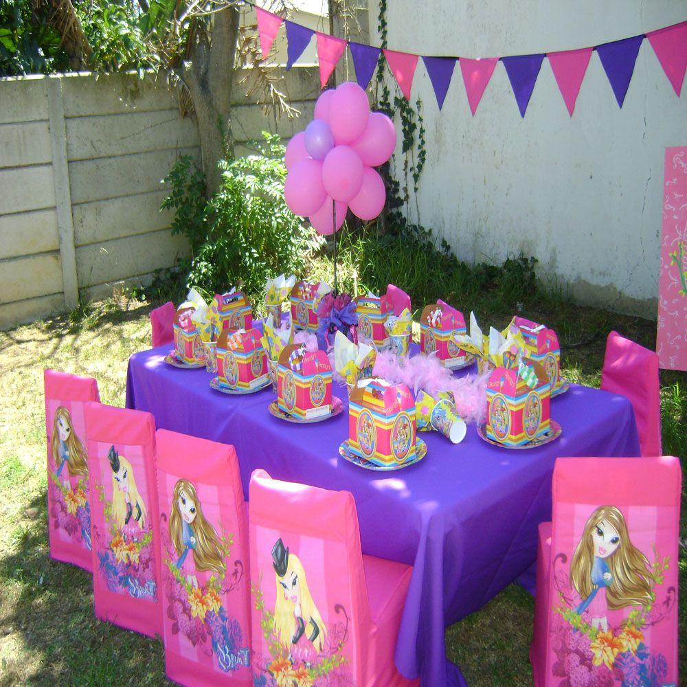 Birthday table set up for a Bratz party | Bratz Birthday Party Ideas ...