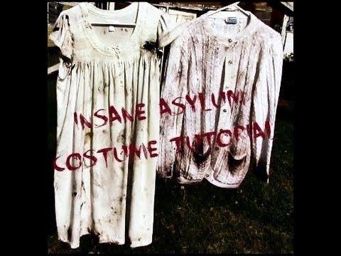Insane Asylum Costume Tutorial | Bump in the Night... | Pinterest ...