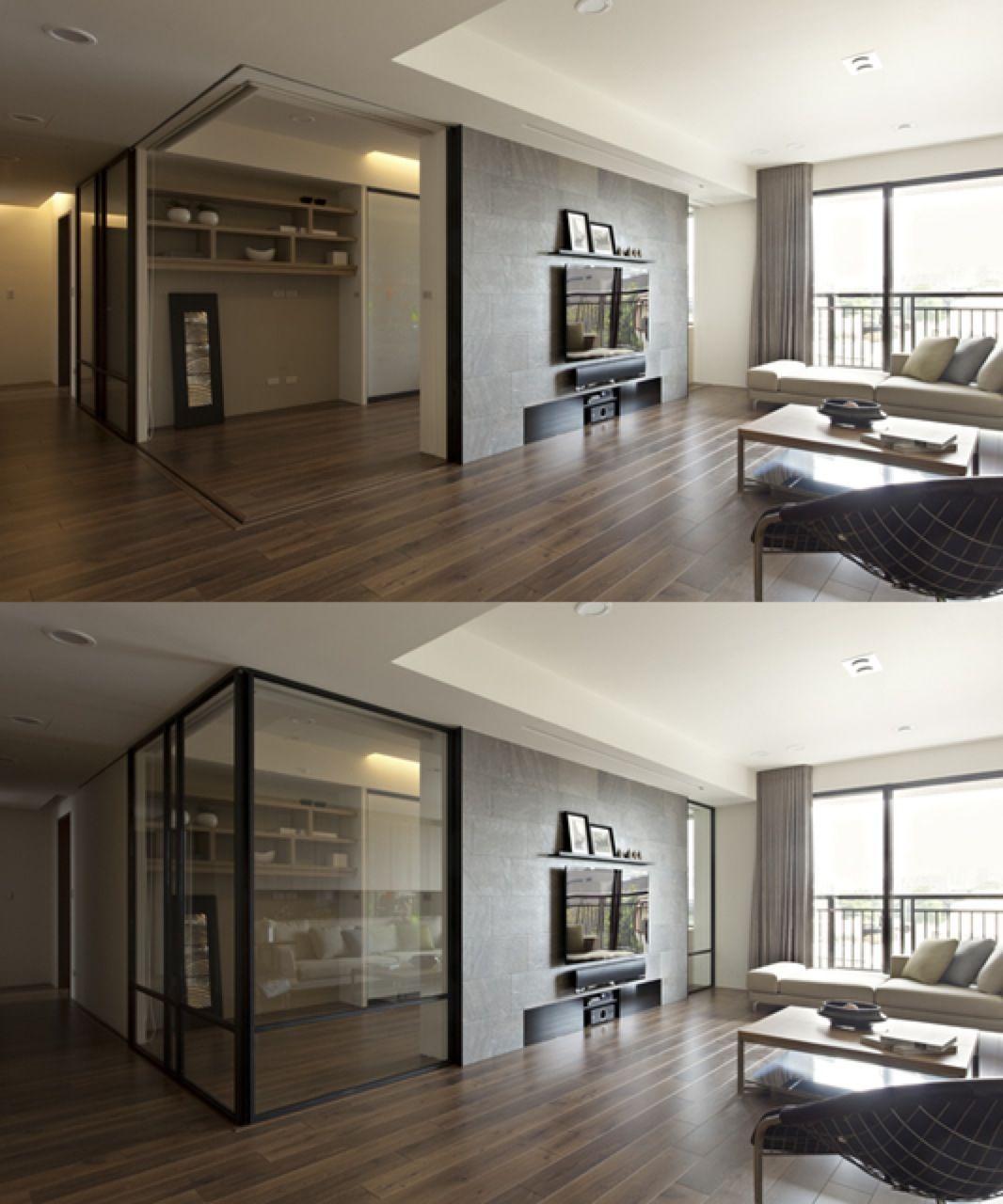 Retractable interior wall