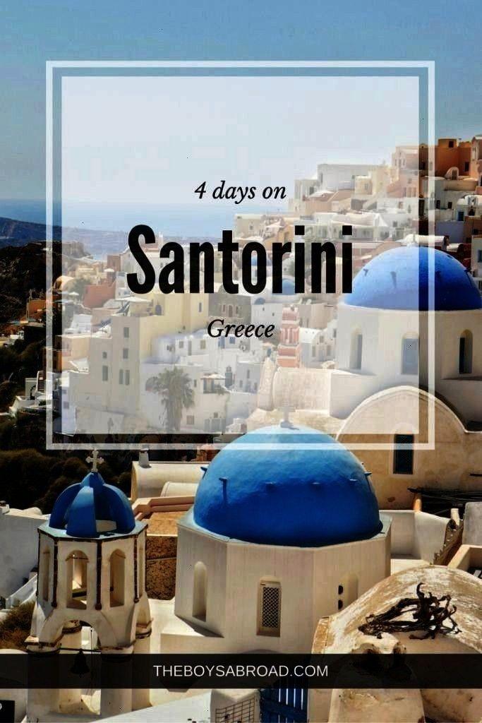 Sunsets 4 Days on Santorini - The Boys Abroad Four day itinerary for for Santorini, Greece Four da