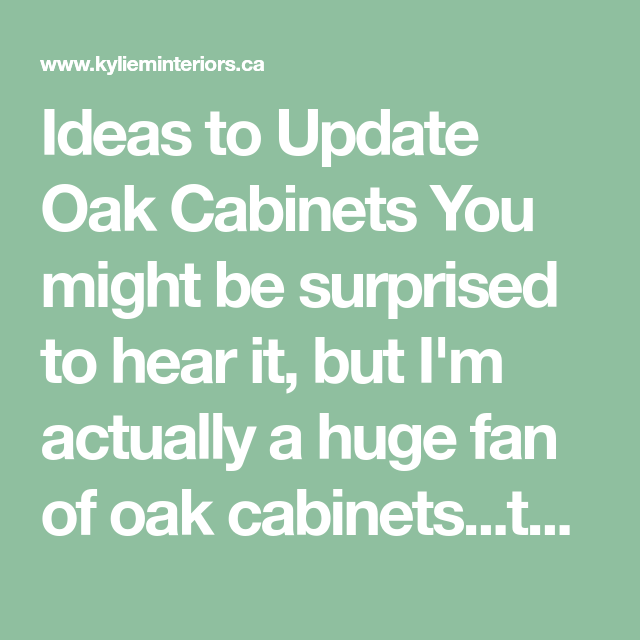 5 MORE Ideas: Update Oak Or Wood Cabinets WITHOUT A Drop