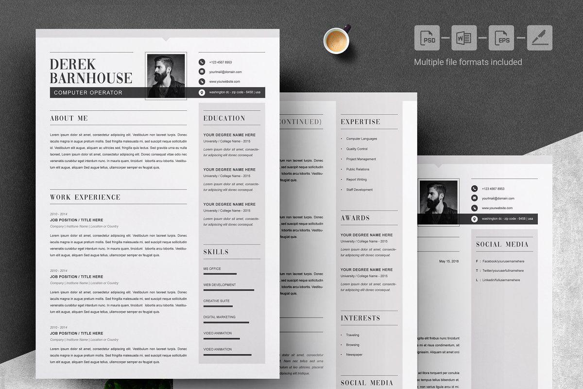 Resume Template Word in 2020 Resume template, Resume