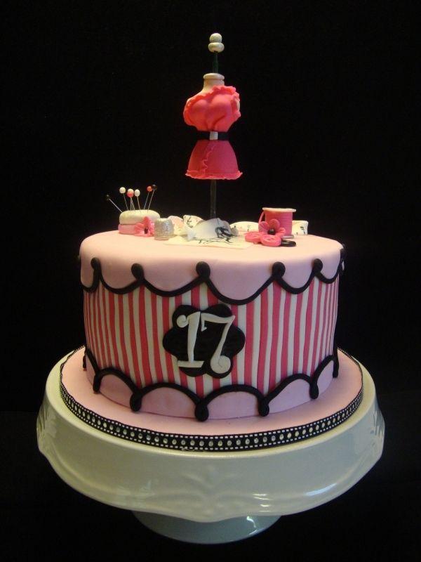 40 Birthday Cakes Fashion Design Cake