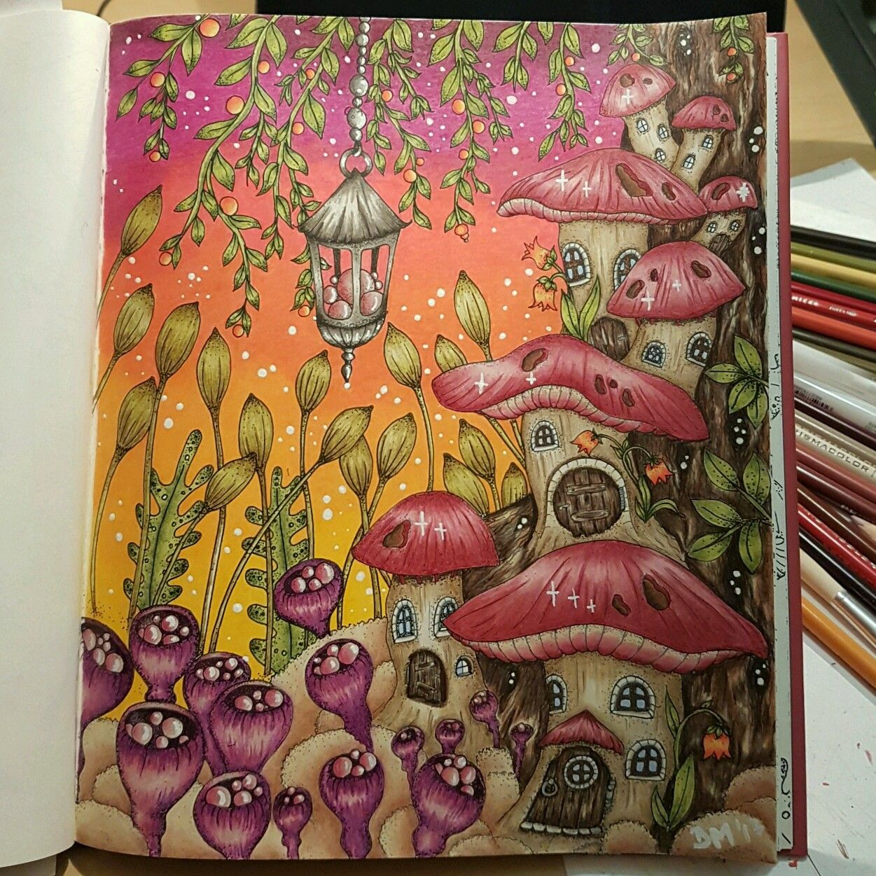 Magical Delights Coloring Book By Klara Markova Colored Me Following Julies Passion For