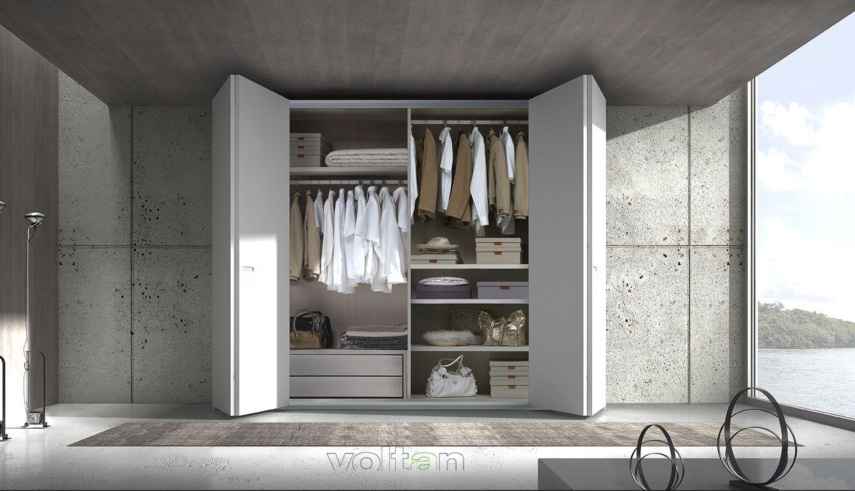 Armadi Laccati Bianchi armadio wall, ante a soffietto laccato bianco. #armadi