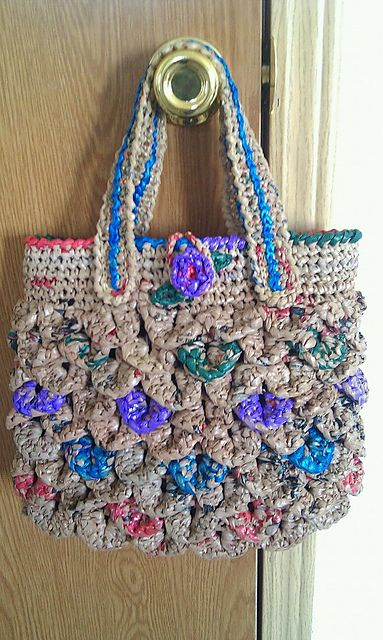 Carleta3021s Croco Plarn Bag Plarn Recycling Pinterest