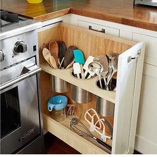 E Pra Quem Ama Praticidade Como Eu Que Tal Esse Compartimento Para Organizar Os Talheres Na Cozinha