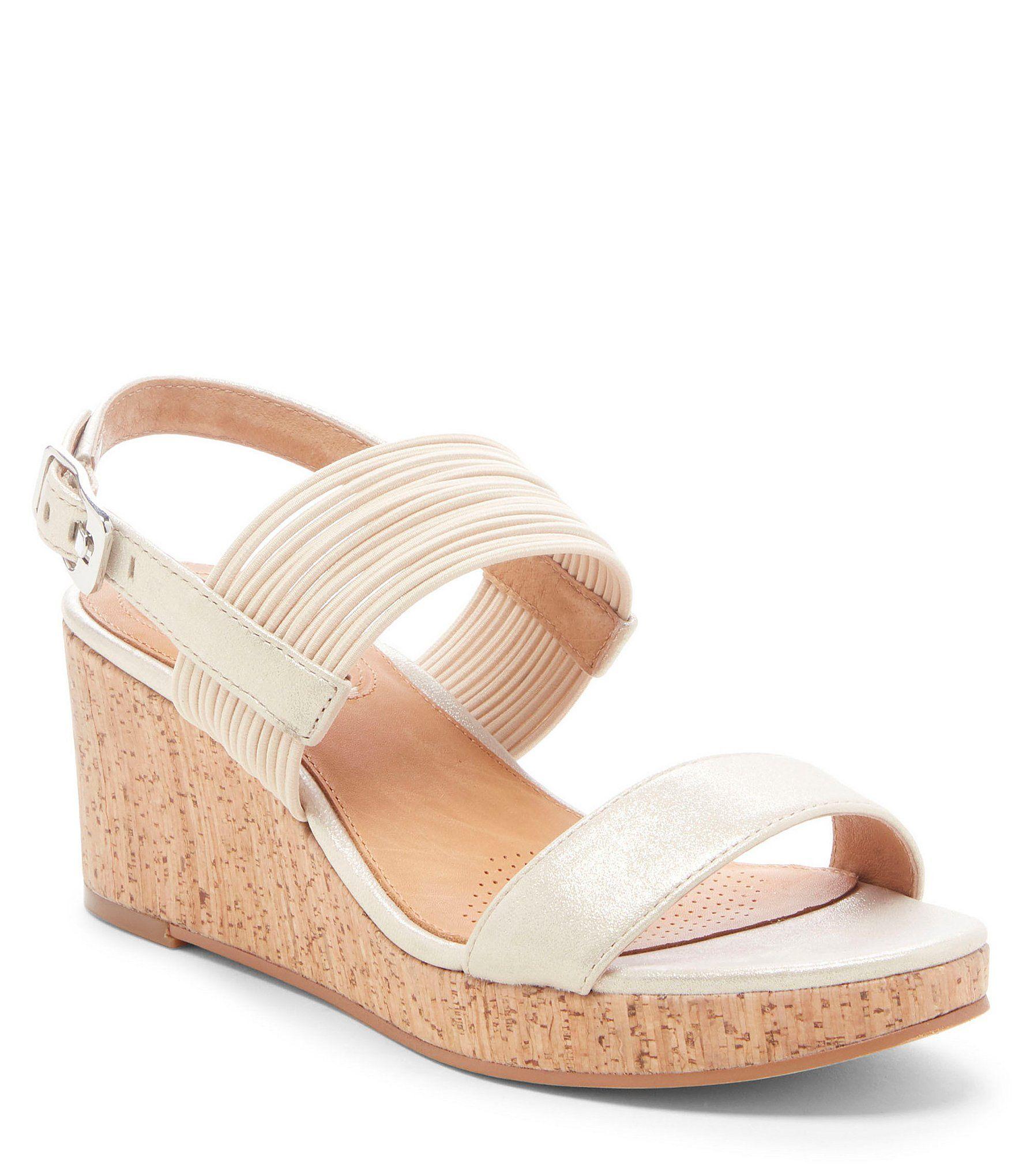 19ba9e1c5 CC Corso Como Fantazie Leather & Cork Wedge Sandals #Dillards ...
