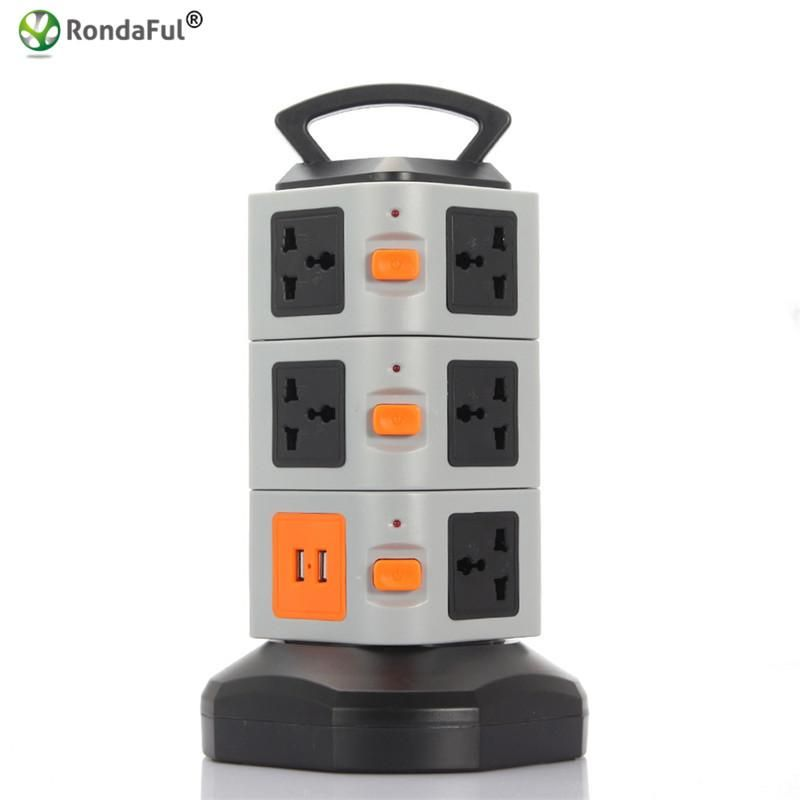 Visit to Buy] Rondaful Electrical Plugs Sockets Power Strip EU US UK ...