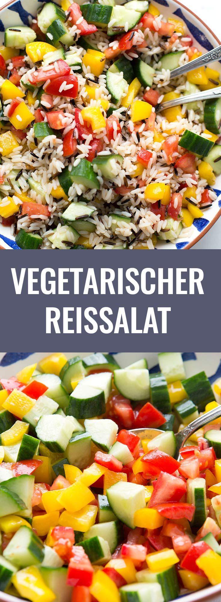 Vegetarischer Reissalat - schnell und super lecker - Kochkarussell