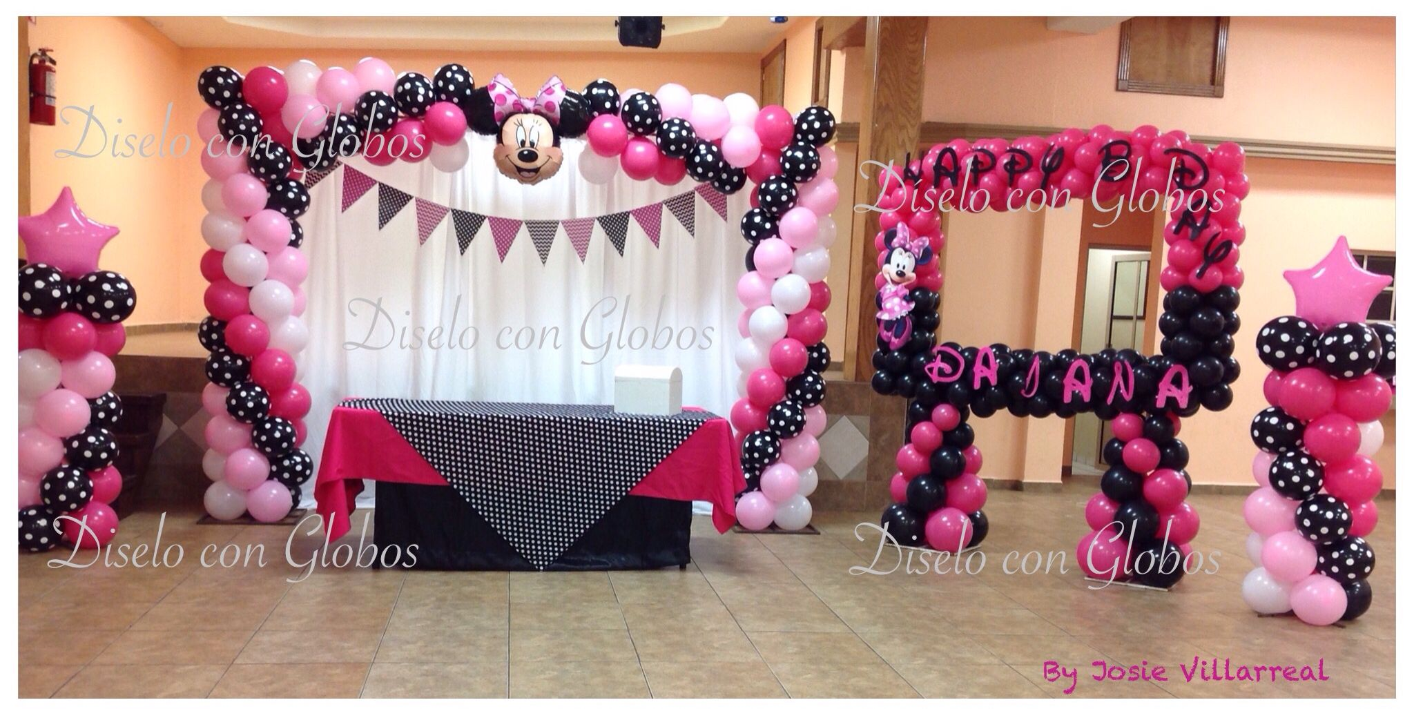 Minnie mouse decoracion con globos