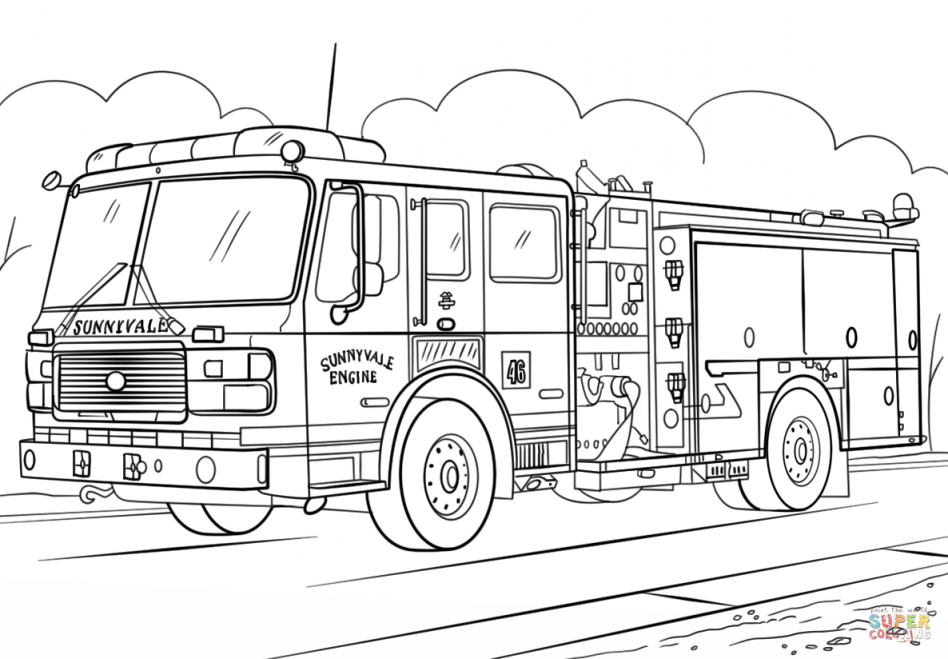 Cartoon Firetruck Coloring Pages Yahoo Image Search Results Firetruck Coloring Page Monster Truck Coloring Pages Truck Coloring Pages