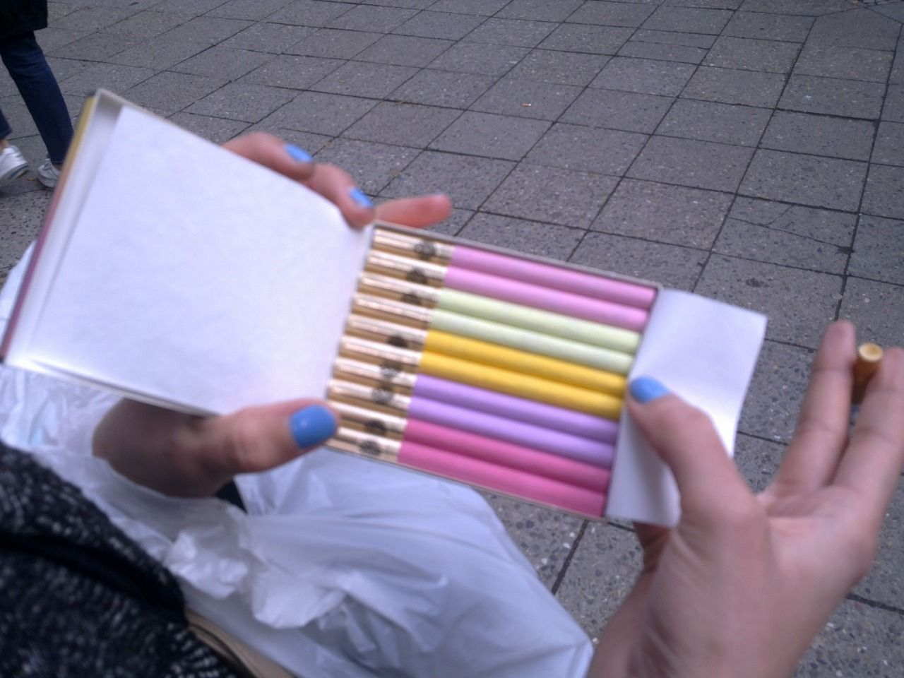 Pink Cigarettes: Notes on Lighting Up  Colored Smoke Cigarettes