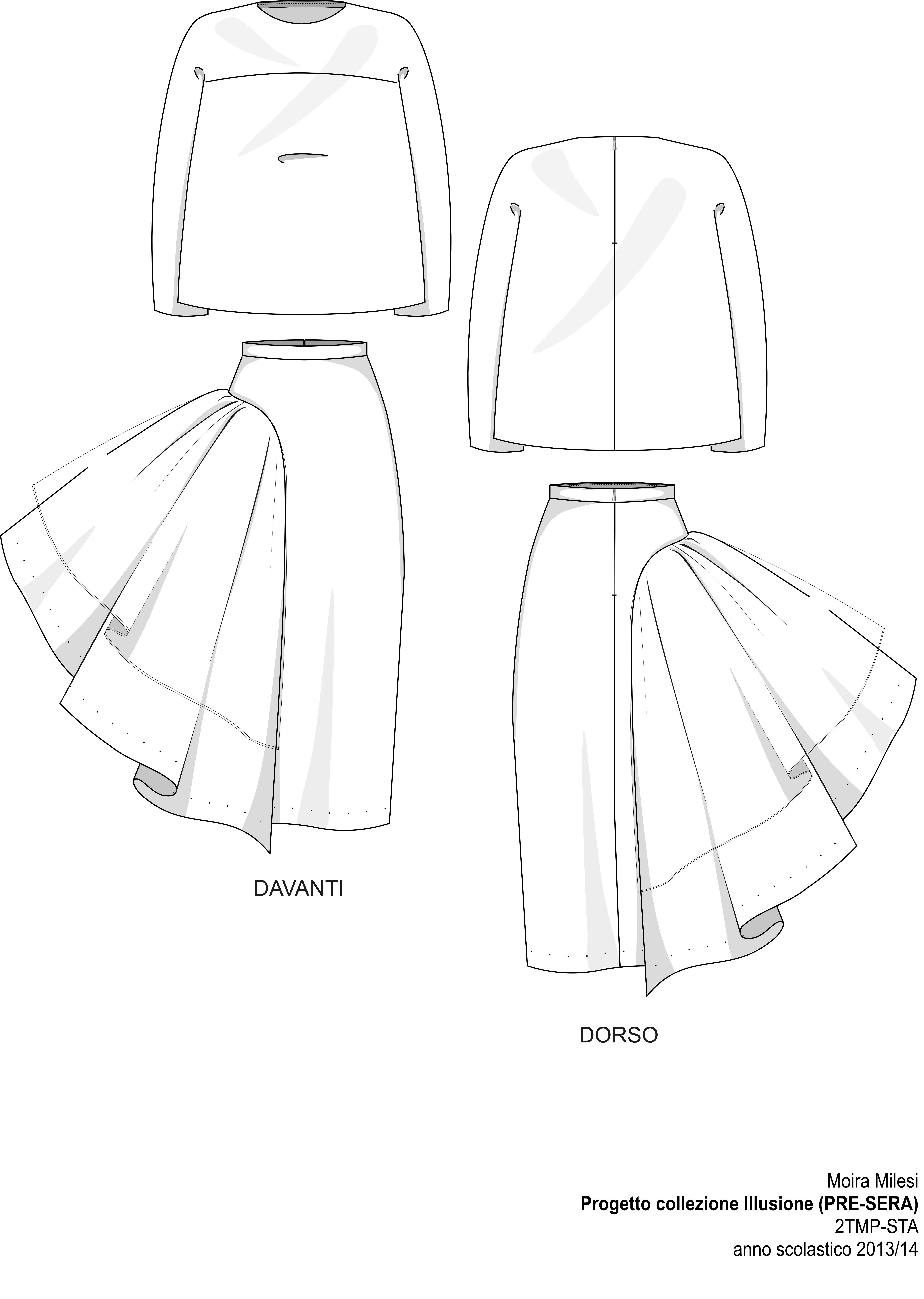 Technical Sheet 5 Evening Fashion Show STA 2014 Pattern
