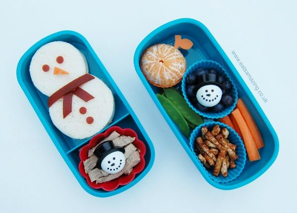 Snowman Sandwich And Themed Lunch
