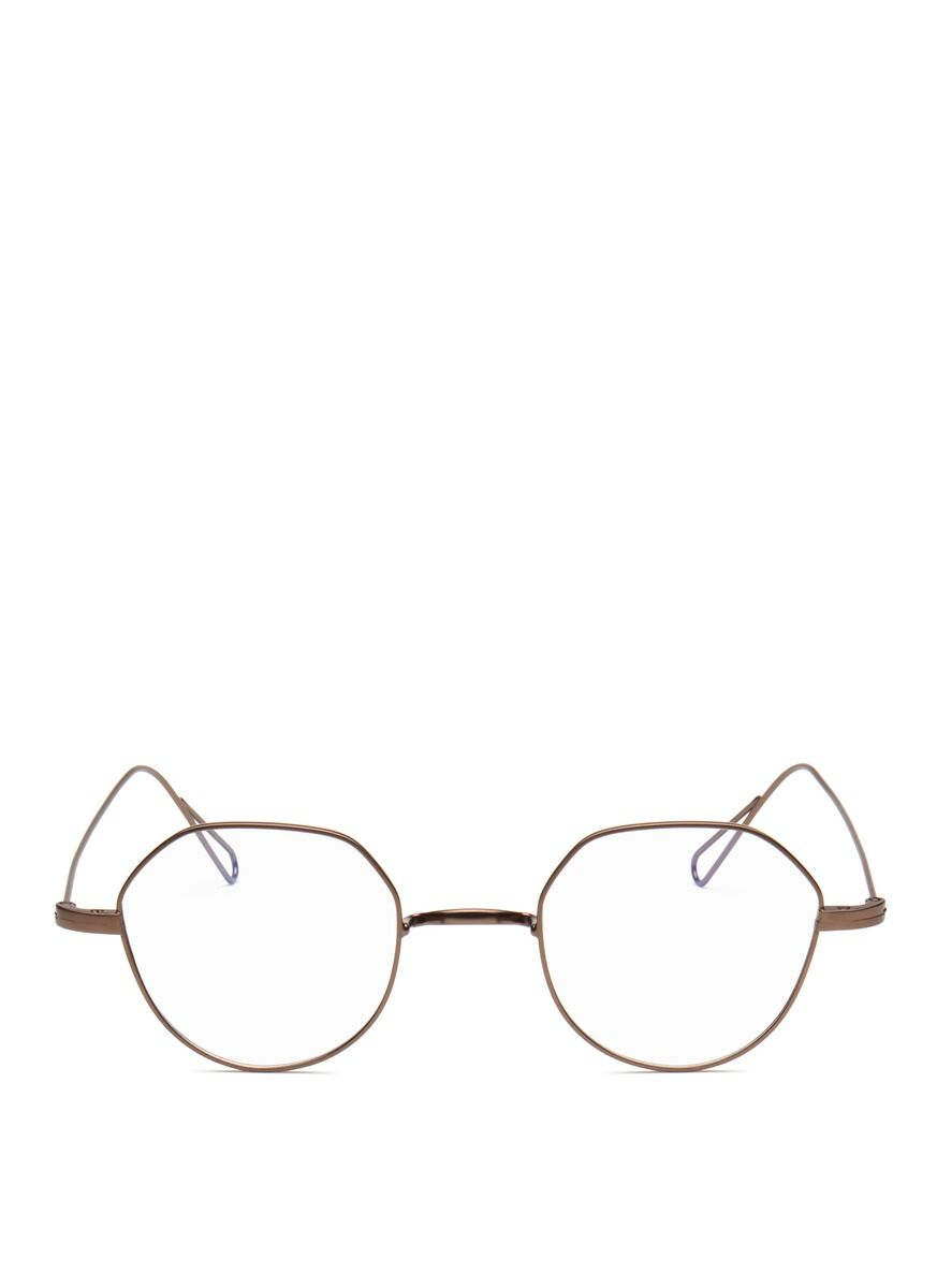 93c0b9781397 Stephane + Christian -  heming 02  Hexagon Metal Wire Optical Glasses