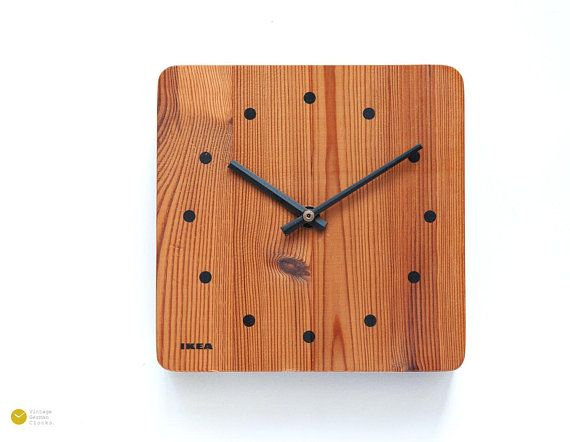 Original 70s Ikea Sweden Wall Desk Clock Scandinavian Design At Its Best Pure And Minimalistic Clock Made Of Solid Thick Vintage Wall Clock Clock Wall Clock
