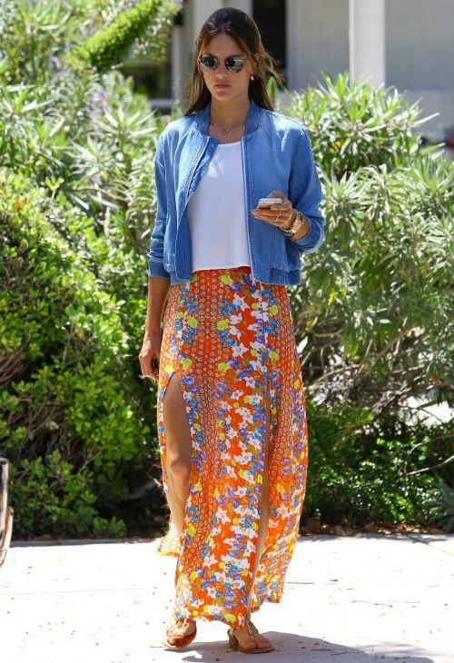 Alessandra Ambrosio wearing Bella Dahl Denim Bomber Jacket ...