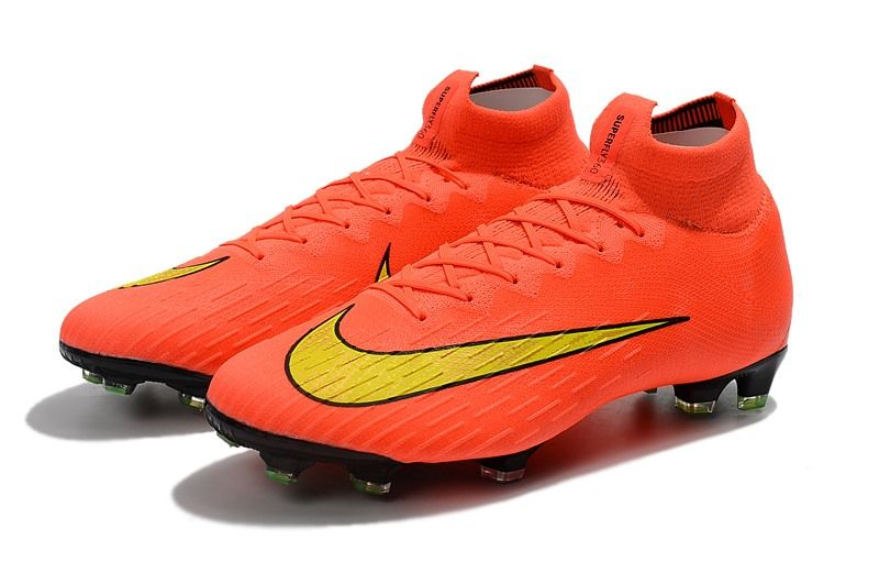 Nike Mercurial Superfly Vi Elite Fg 2018 World Cup Orange Yellow Soccer Boots Soccer Shoes Soccer Cleats Nike