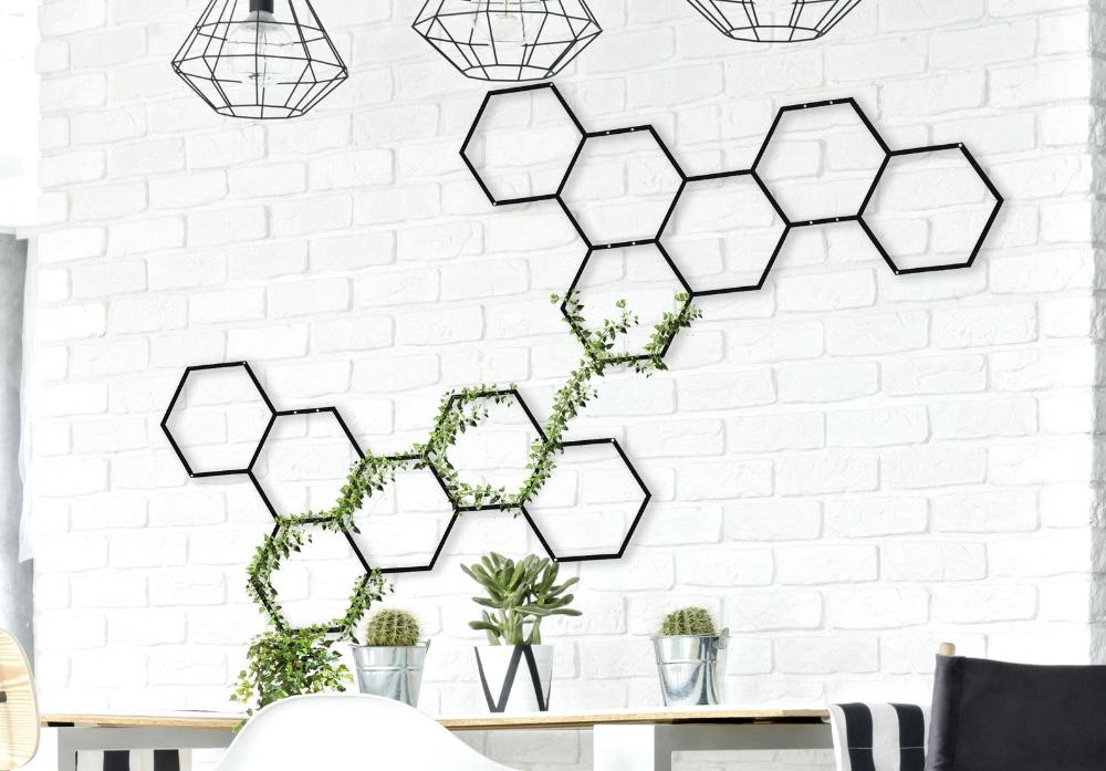 Honeycomb Wall Hanging Metal Wall Planter Metal Wall Art Etsy Wall Trellis Metal Wall Planters Garden Wall Decor
