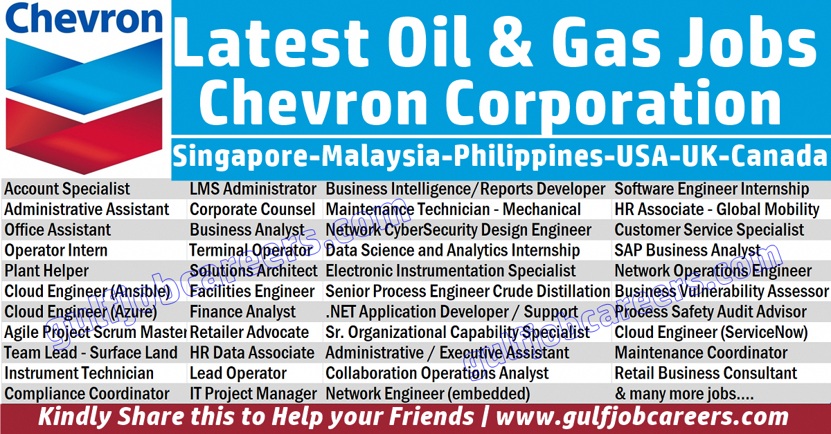 Chevron Corporation Is An American Multinational Energy Corporation One Of The Successor Companies Of Standard Oil It Is C Job Shop Business Analyst Oil Jobs