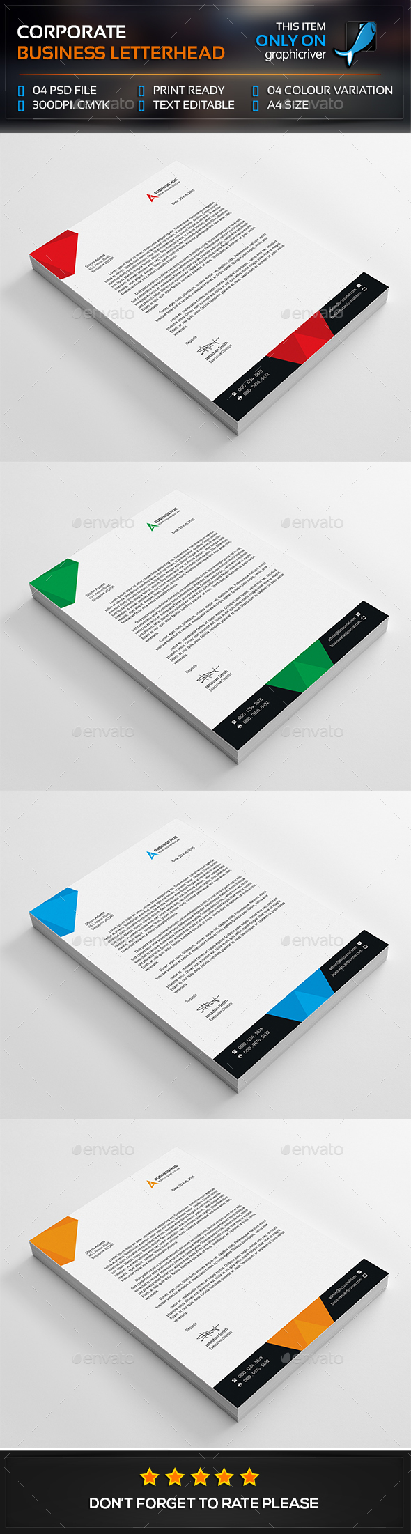 Abstract Corporate Business Letterhead  GF  Accessories