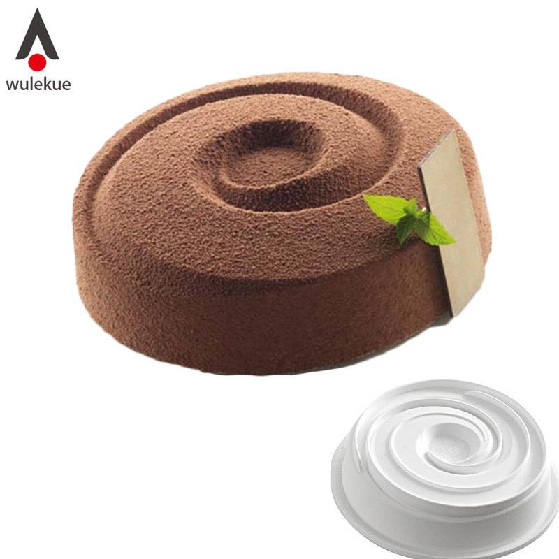 Spiral Shape Silicone Form for Baking Pan Pastry Baking Tray Chiffon Cake Mousse