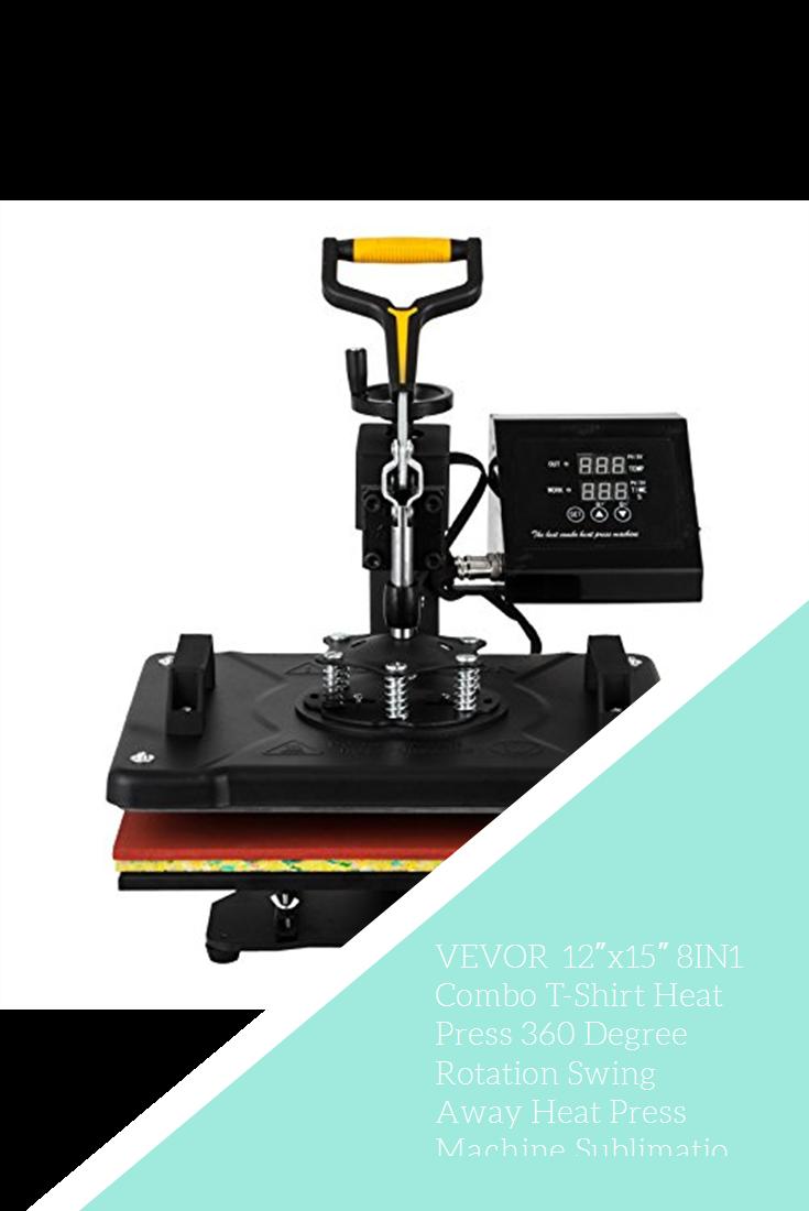Vevor 12 X15 8in1 Combo T Shirt Heat Press 360 Degree Rotation Swing Away Heat Press Machine Sublimation Transfer Heat Press Machine Press Machine Heat Press