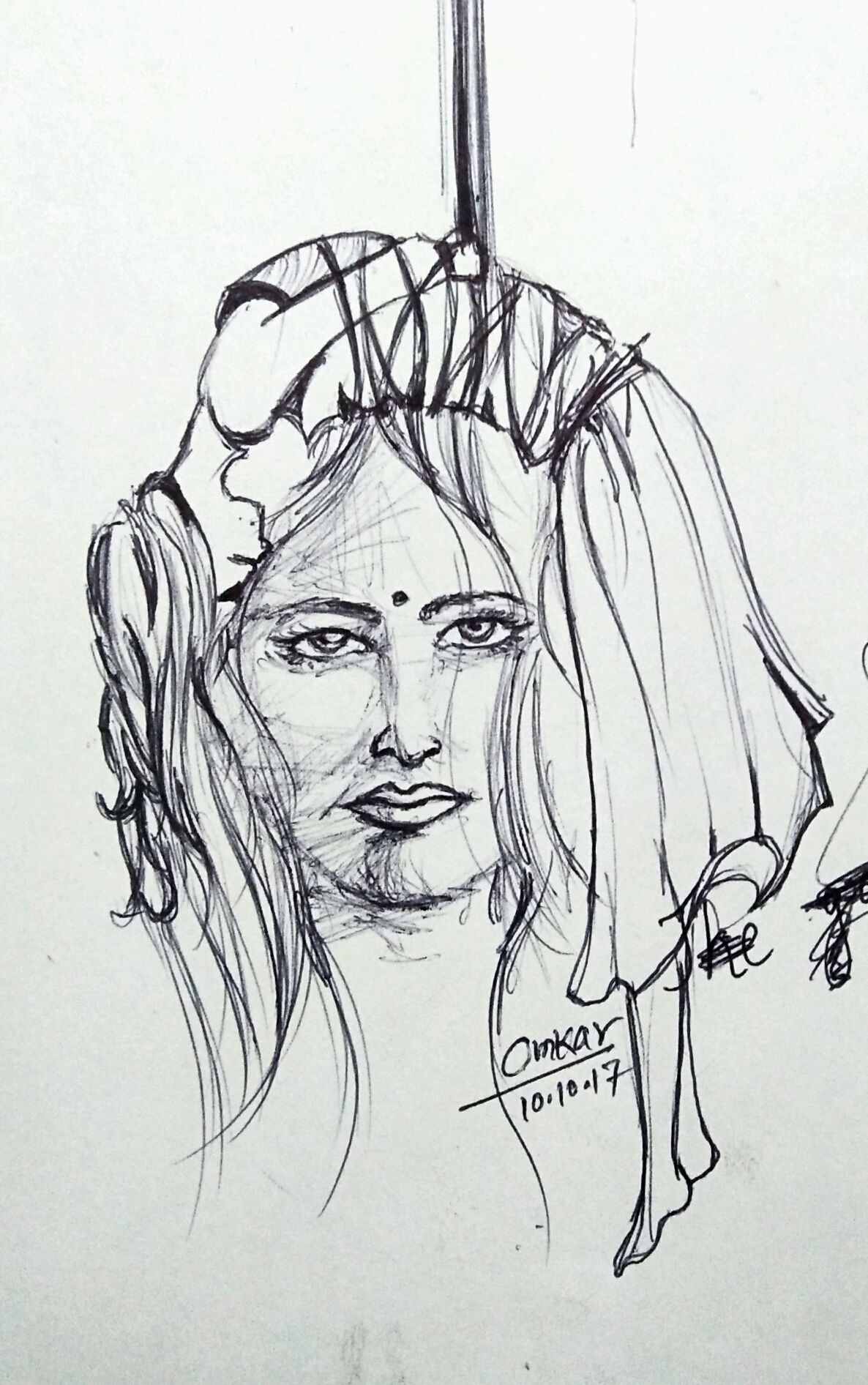 Ball Point Pen Sketch Omkar Khochare Pen Sketch Sketches Drawings